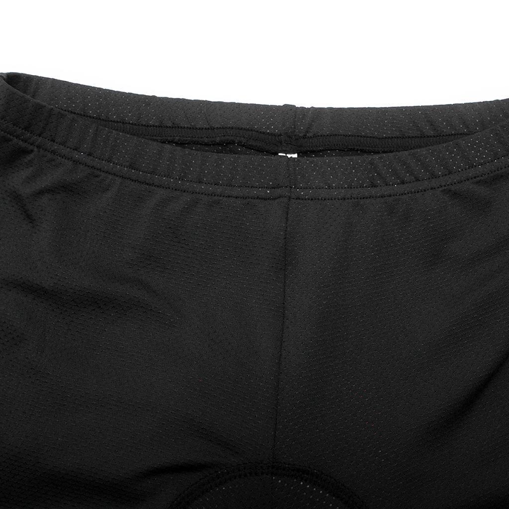 Rembourre-Baggy-Cycling-shorts-casual-velo-pantalon-court-sous-vetements-Noir miniature 3