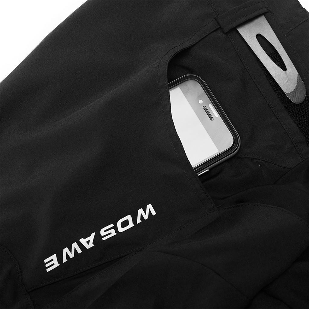 Rembourre-Baggy-Cycling-shorts-casual-velo-pantalon-court-sous-vetements-Noir miniature 4