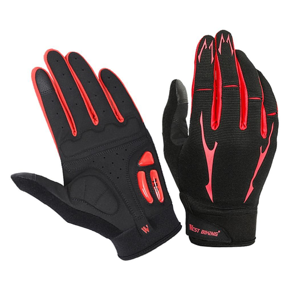 Full-Finger-Breathable-Gloves-Touch-Screen-Motorcycle-Bicycle-Riding-Mittens miniature 6