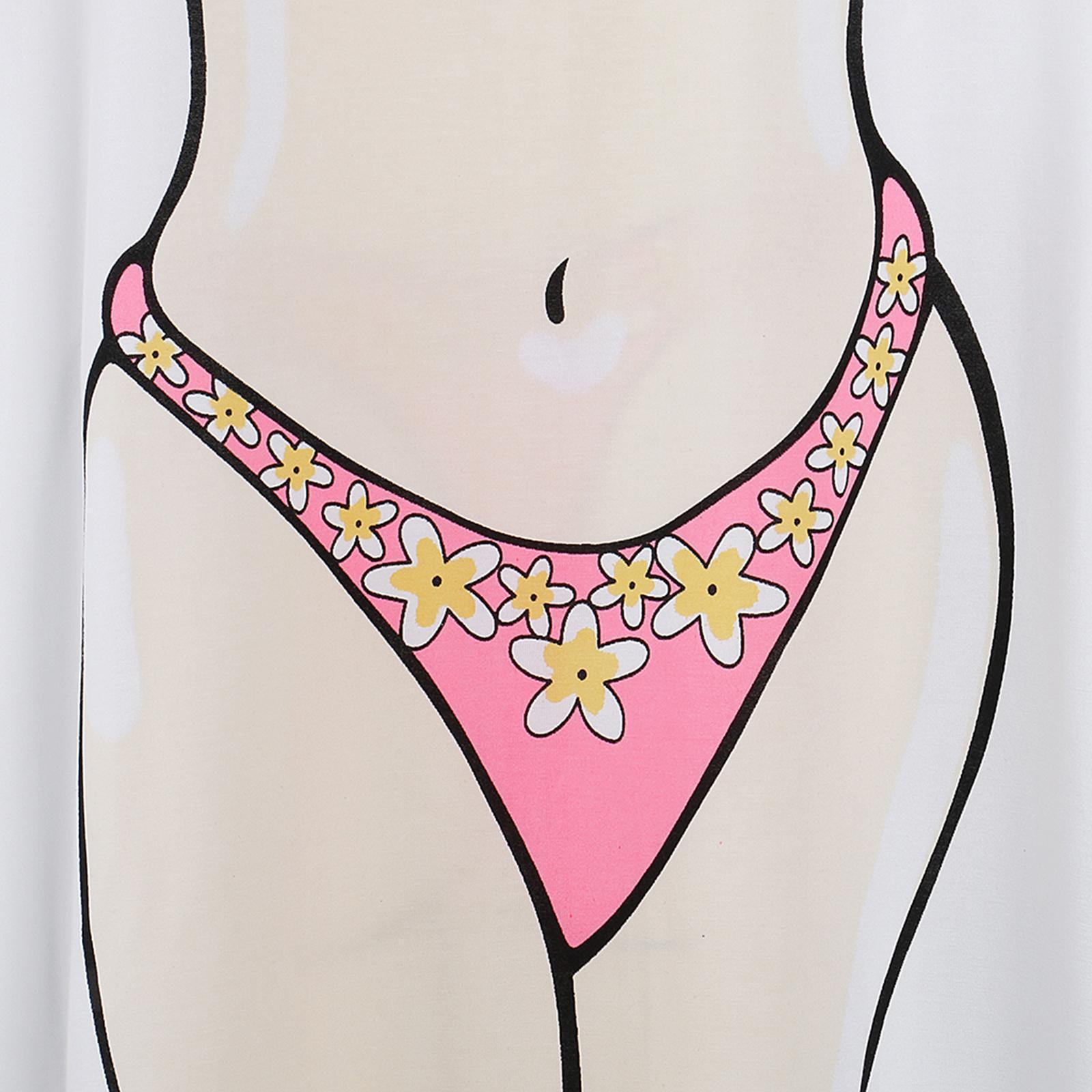 Womens-Bikini-Hawaiian-Summer-Beach-T-Shirt-Cover-Ups-Souvenir-Hen-Night-Pajamas thumbnail 12