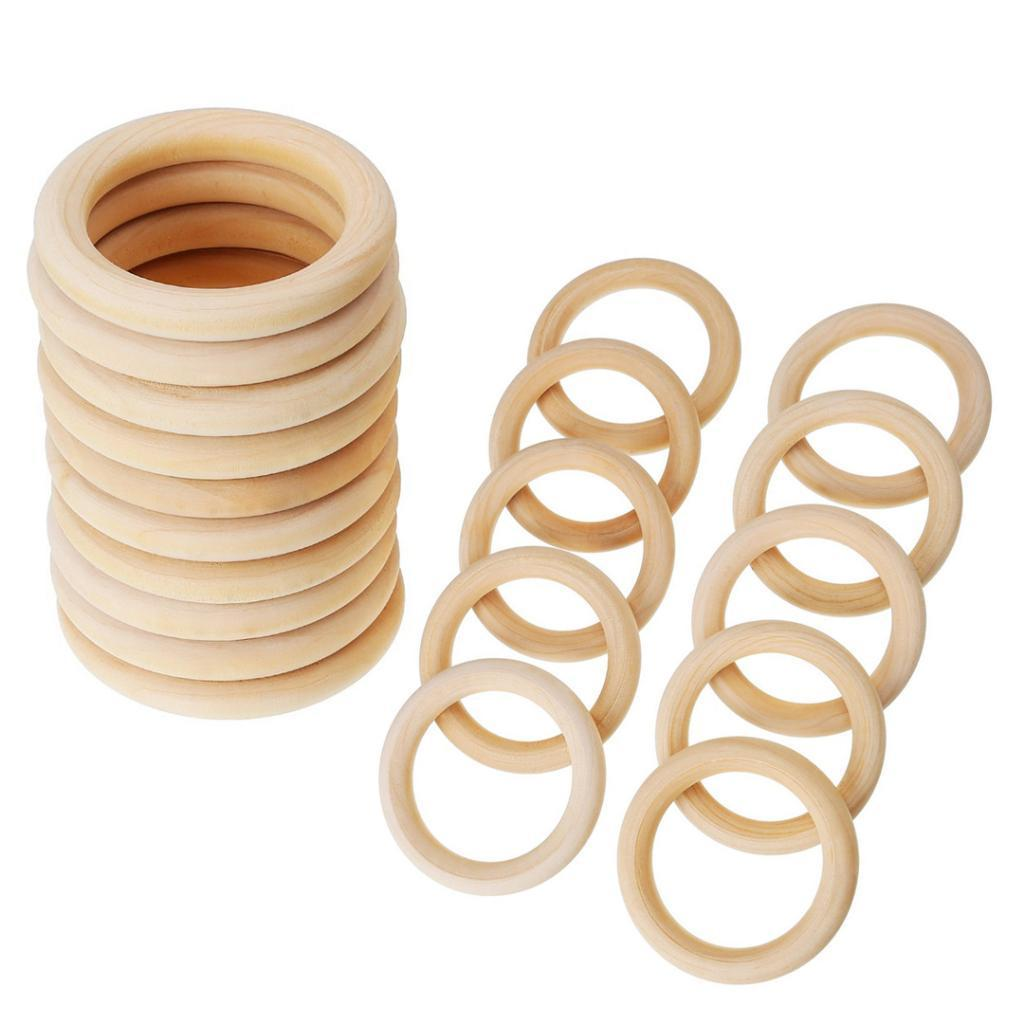 20xBaby-Natural-Unfinished-Wooden-Teether-Toddler-Teething-Ring-Toys-DIY-Crafts thumbnail 11