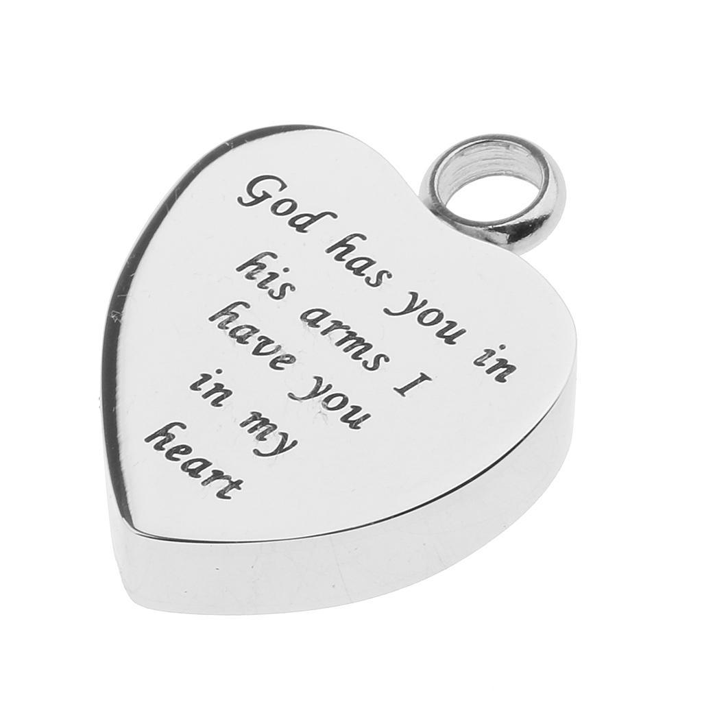 Love-Heart-Cremation-Urn-Pendant-Keepsake-Ash-Heart-Shape-Stainless-Steel-Locket thumbnail 22