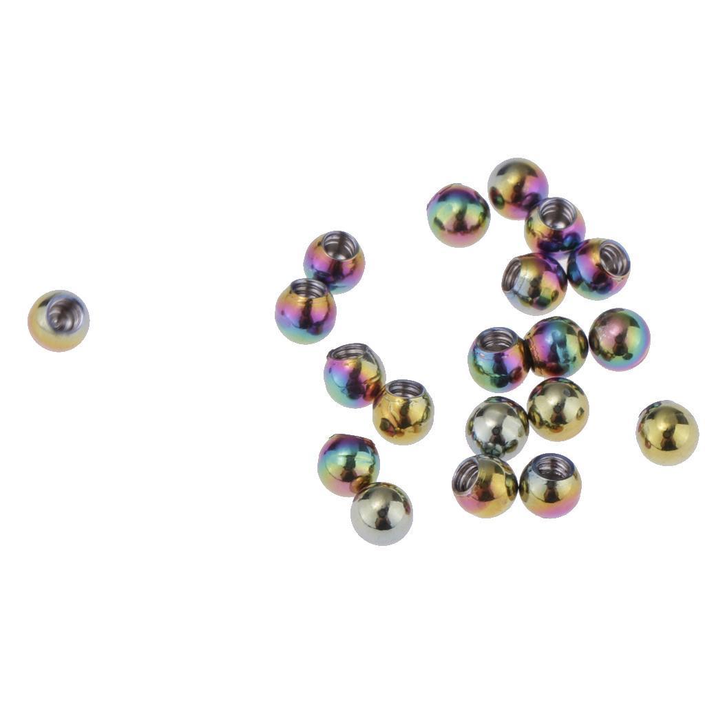 20-Pz-Palle-di-Ricambio-1-26x3mm-DIY-Accessorio-in-Acciaio-Inox-per-Gioielli miniatura 19