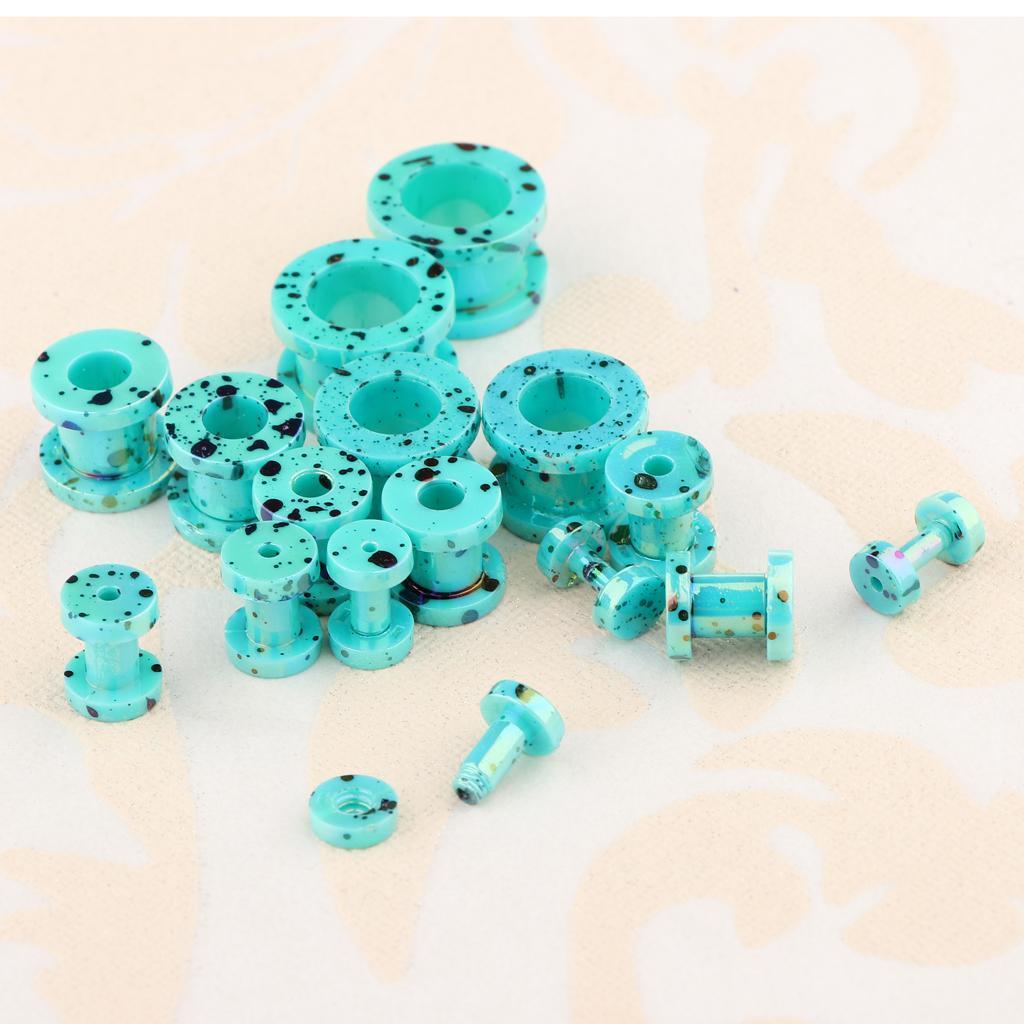 16-Pezzi-Tappi-Orecchie-Acrilico-Colorfast-Comodo-Accessorio-Moda-Per miniatura 20