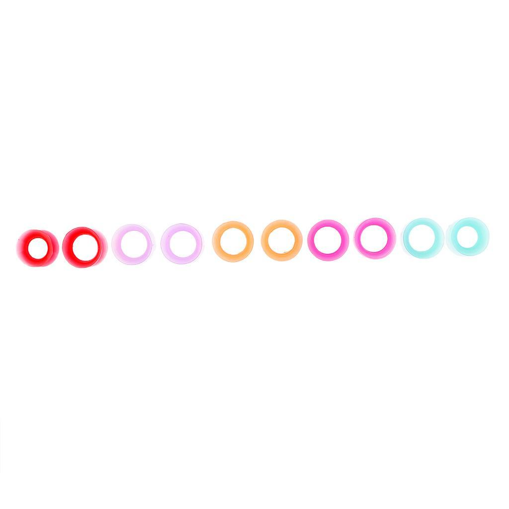 10pcs-silicone-molle-solido-doppio-spine-svasate-calibro-dell-039-orecchio-che miniatura 19