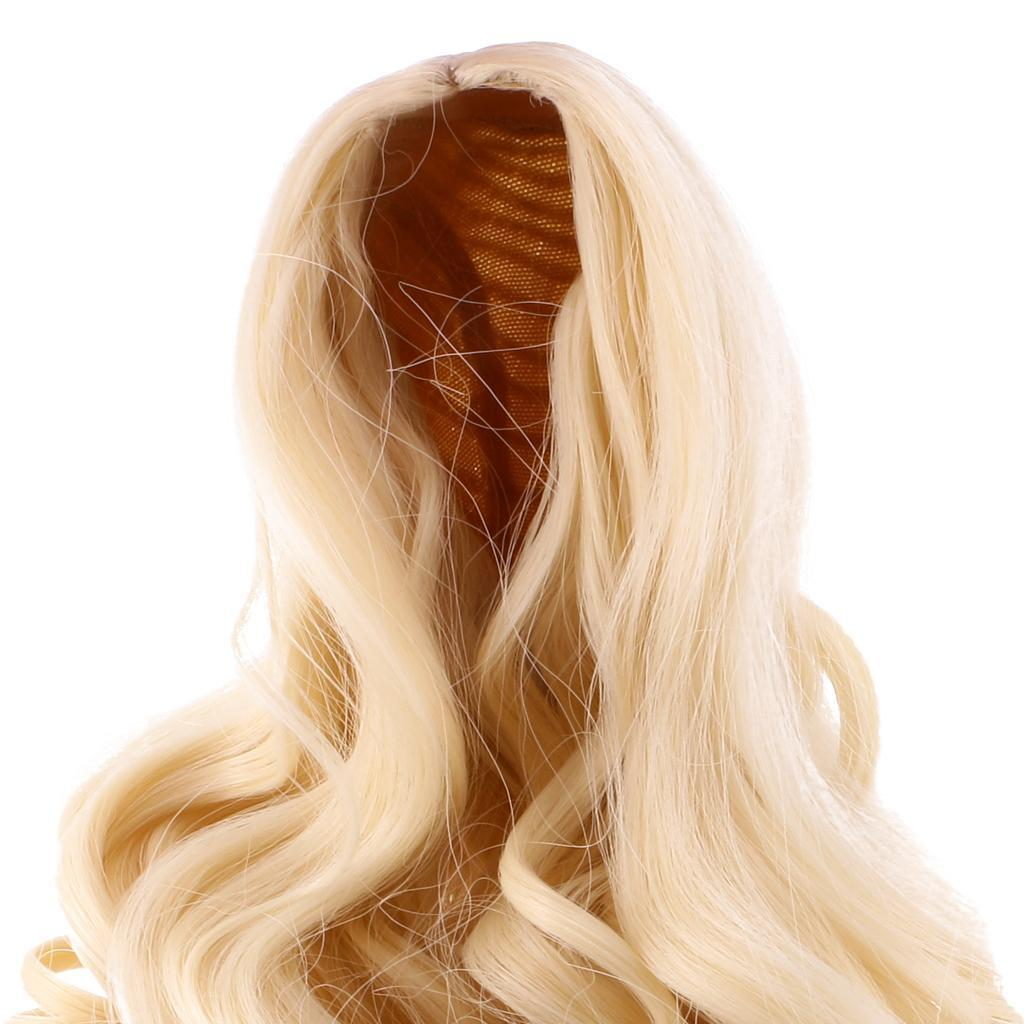 Straight-Gradient-Curly-Hair-Wig-for-18-039-039-Doll-Dress-up-Accessory thumbnail 13
