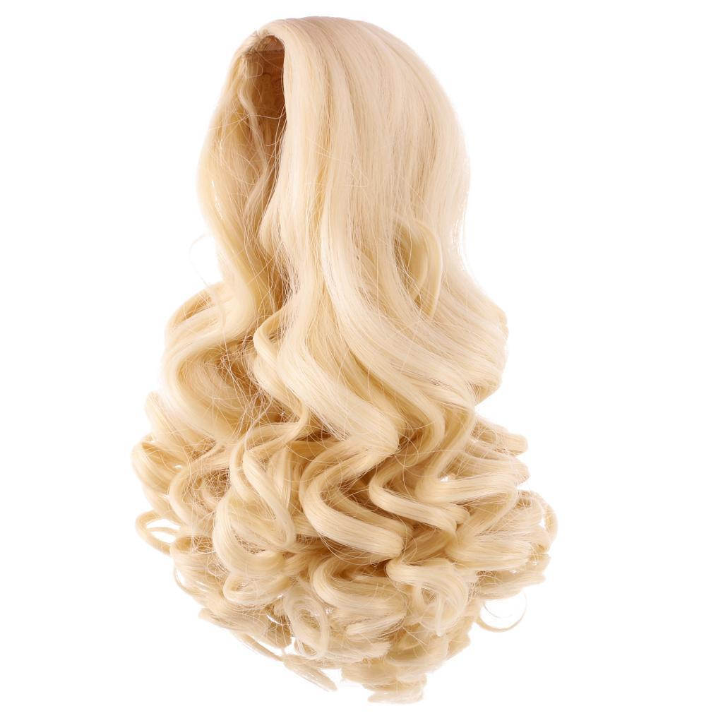 Straight-Wavy-Curly-Hair-Wig-for-18-039-039-Dolls-Clothes-Accessories thumbnail 11