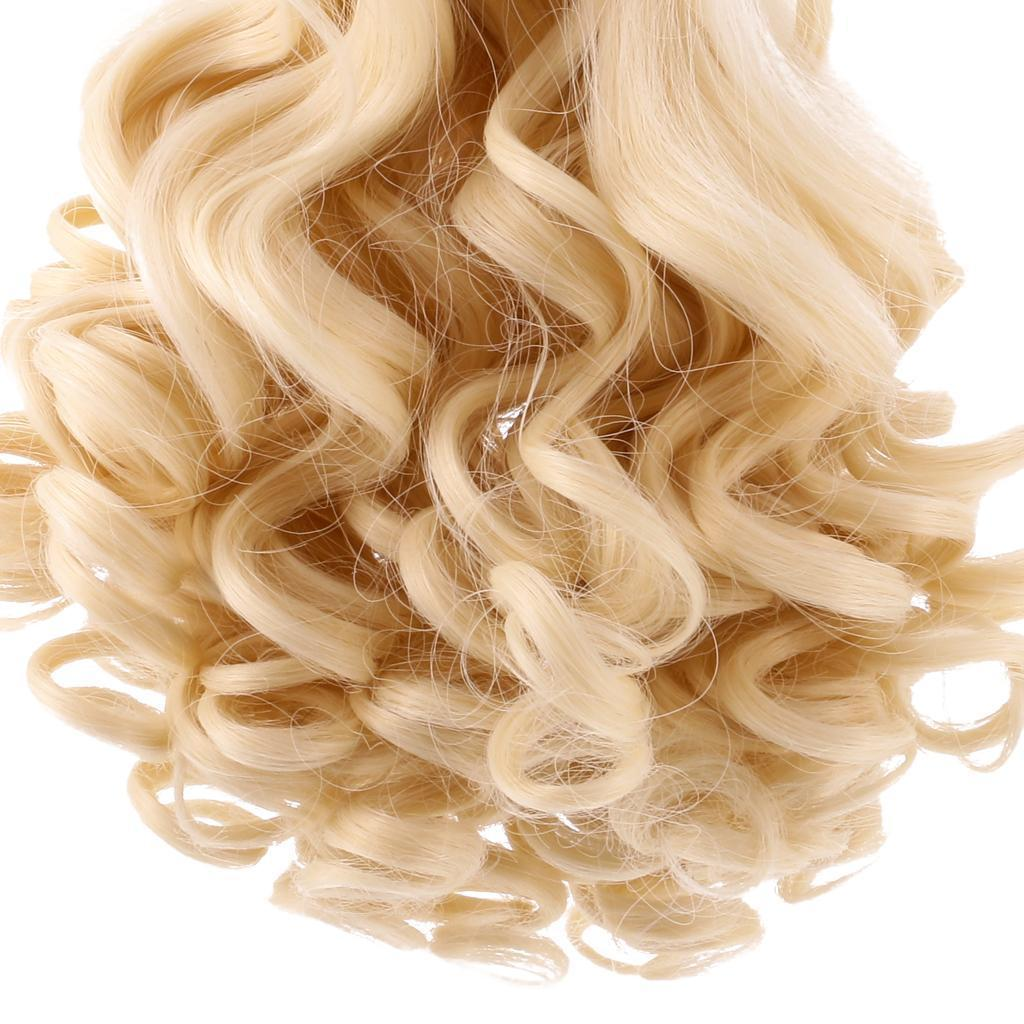 Straight-Wavy-Curly-Hair-Wig-for-18-039-039-Dolls-Clothes-Accessories thumbnail 12