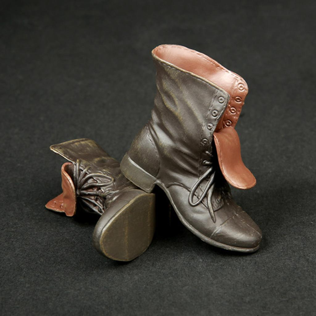 1-6-Scale-Rubber-Made-Leather-Boots-For-12-034-Male-Hottoys-Shideshow-Action-Figure thumbnail 5