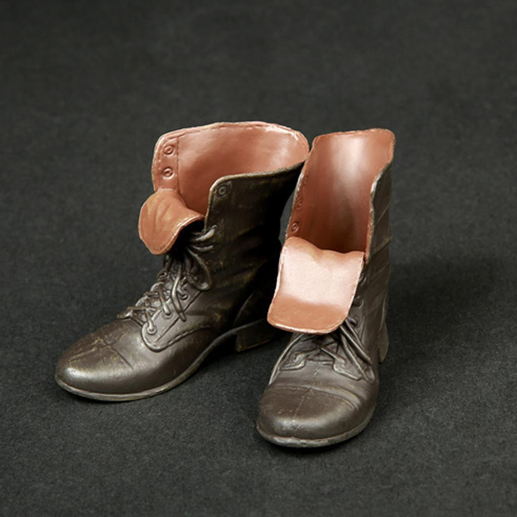 1-6-Scale-Rubber-Made-Leather-Boots-For-12-034-Male-Hottoys-Shideshow-Action-Figure thumbnail 3