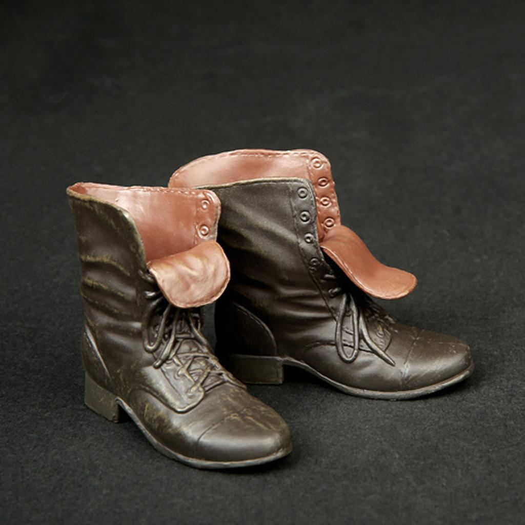 1-6-Scale-Rubber-Made-Leather-Boots-For-12-034-Male-Hottoys-Shideshow-Action-Figure thumbnail 4