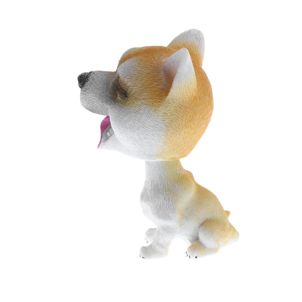 Realistic Puppy Model Toy Shaking Head Dog Home Garden Car Interior Decor Gifts