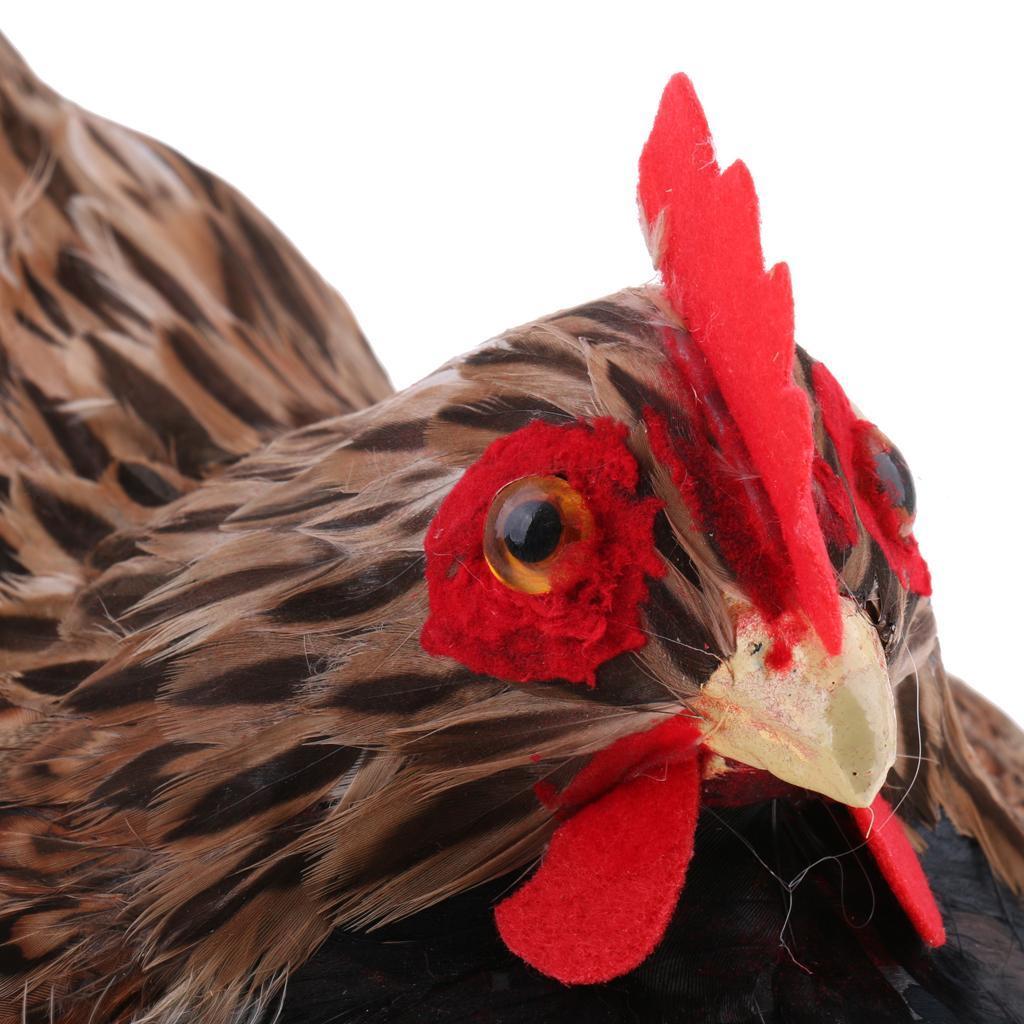 Lifelike-Chicken-Hen-Eggs-on-Nest-Farm-Animal-Model-Figurine-Toy-Home-Decoration thumbnail 7