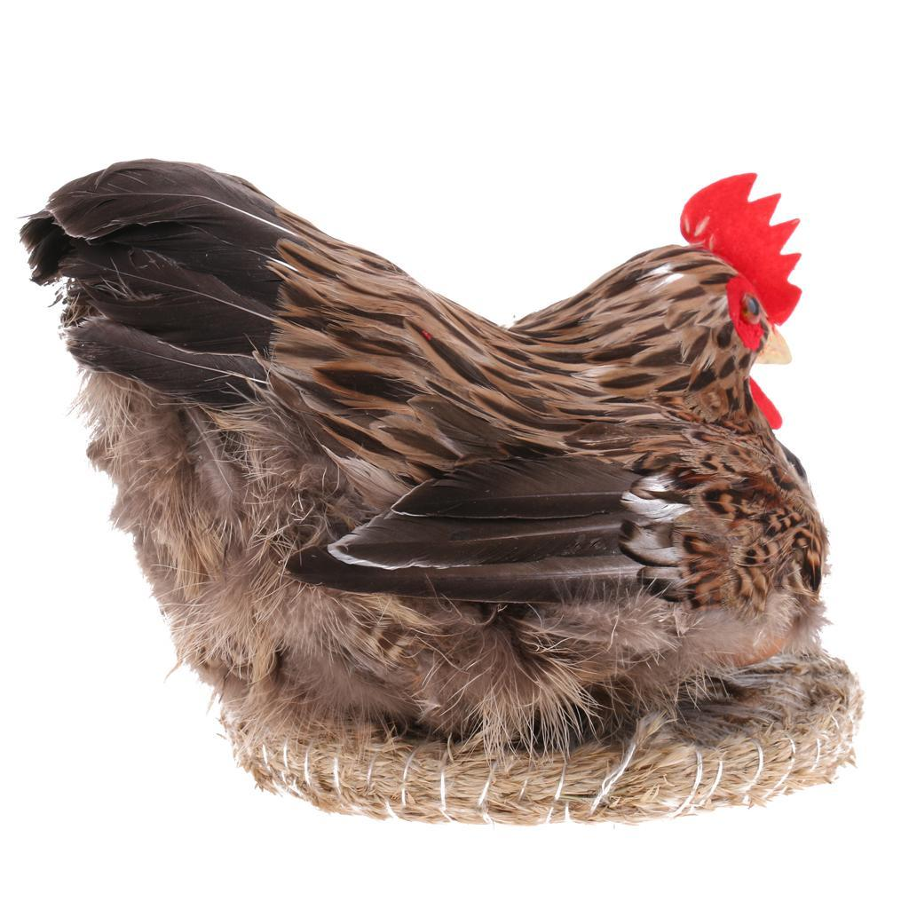 Lifelike-Chicken-Hen-Eggs-on-Nest-Farm-Animal-Model-Figurine-Toy-Home-Decoration thumbnail 8