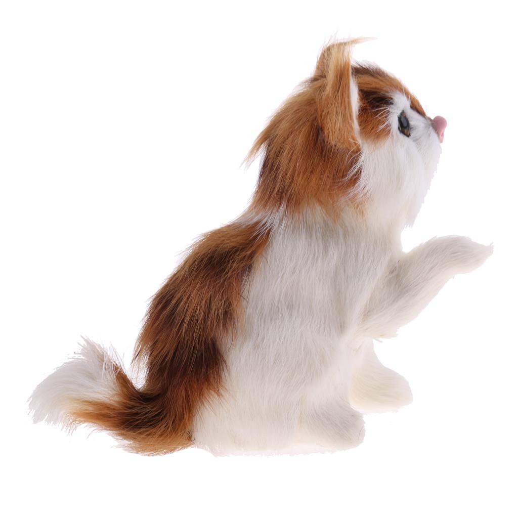 Realistic Wild//Yard Animal Model Figures CAT//HORSE//FOX//DEER Science /& Nature Toy