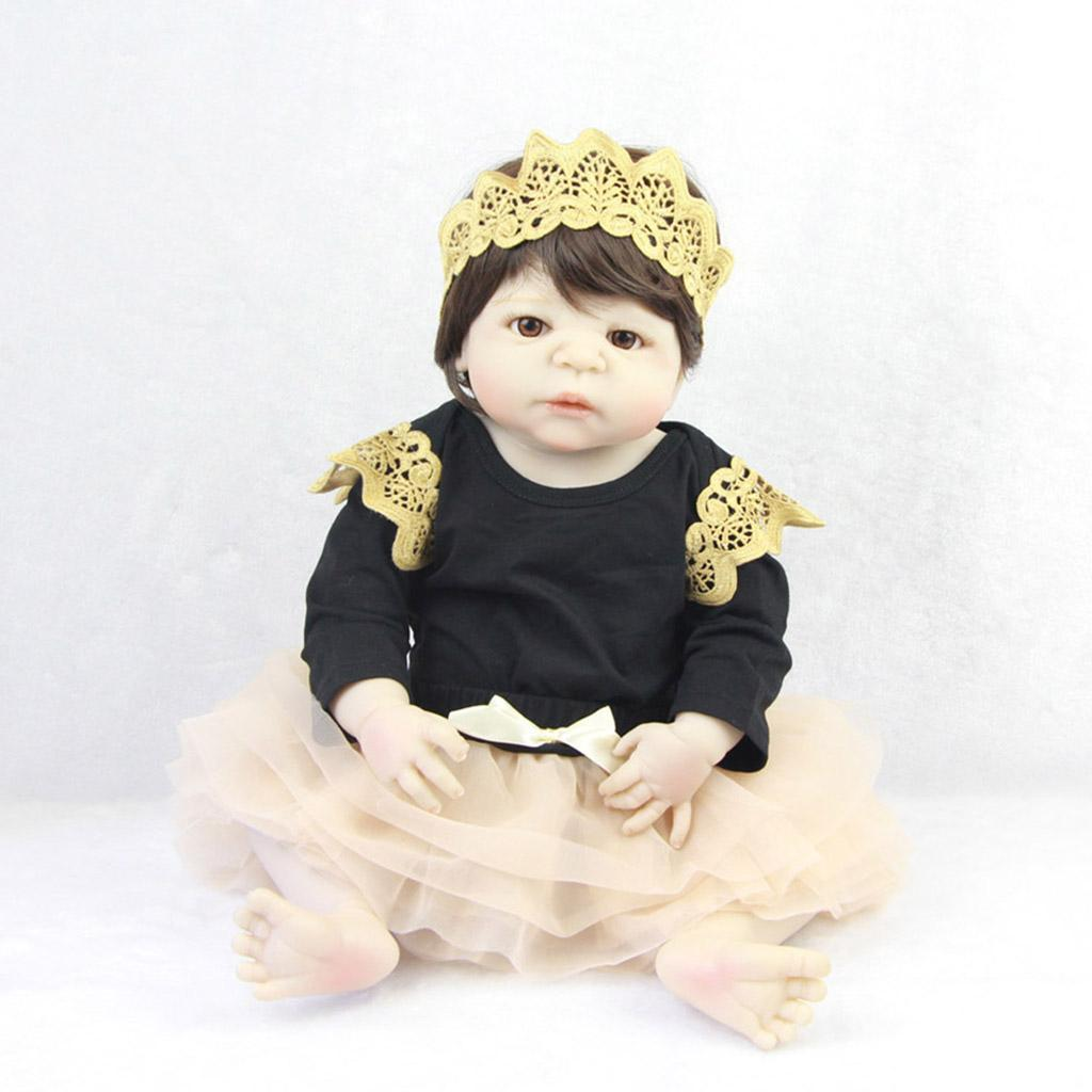 Lifelike-Baby-Dolls-Romper-Clothes-Headdress-for-22-039-039-23-039-039-Reborn-Baby-Girl-Doll thumbnail 7