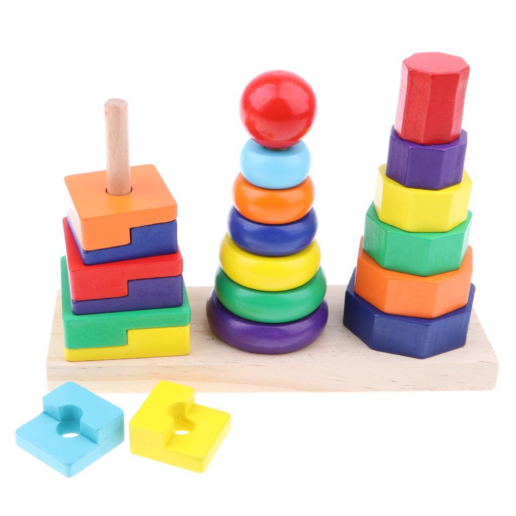 Wooden-Rainbow-Building-Stacking-Blocks-Montessori-Toy-Gift-for-Baby-Toddler thumbnail 27