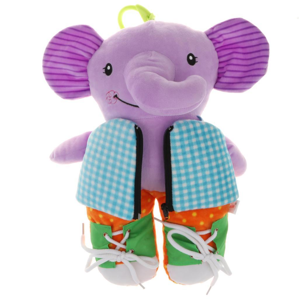 Baby Toddler Learn to Dress Soft Plush Doll Kid Early ...