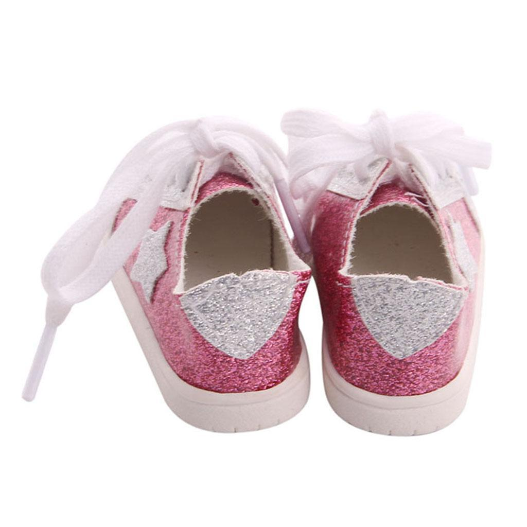 18inch-Girl-Doll-Fairy-Leisure-Shoes-for-American-Doll-Xmas-Gift-Accessories miniature 15