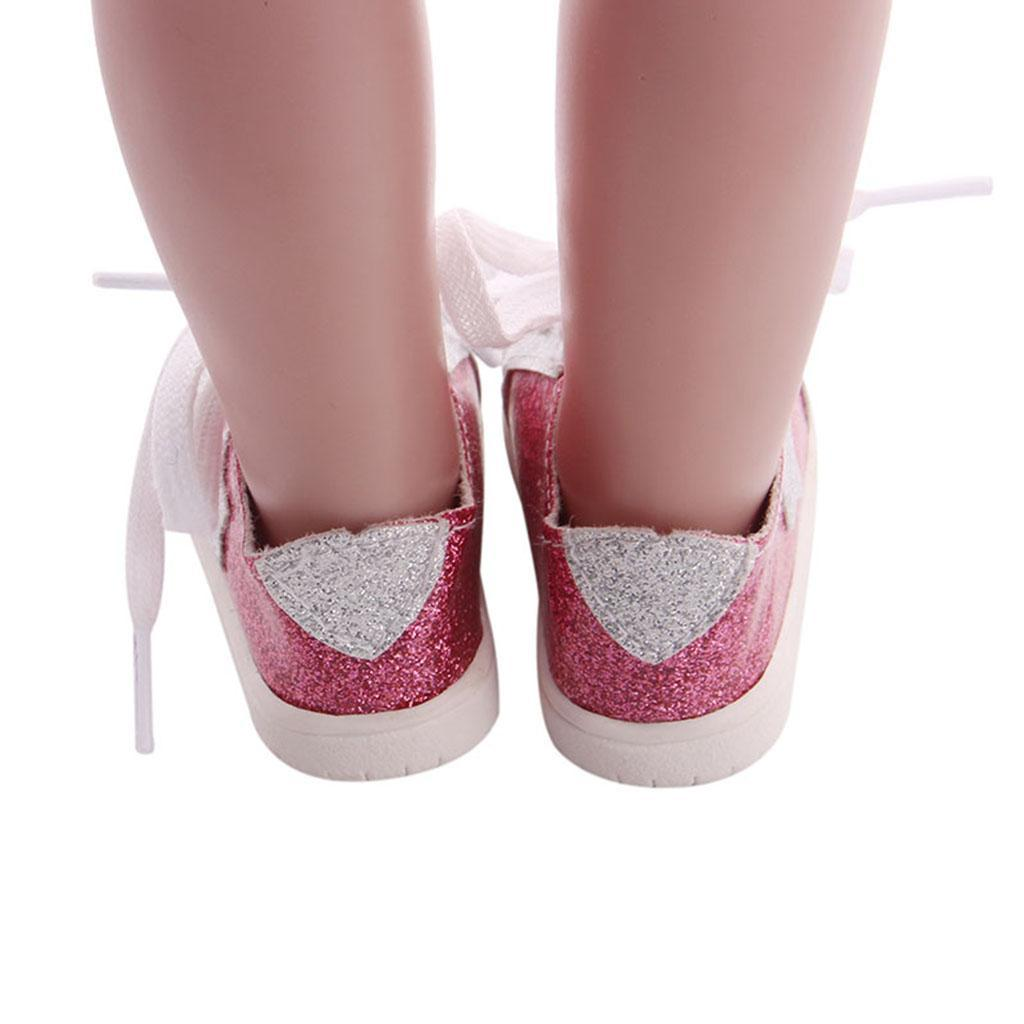 18inch-Girl-Doll-Fairy-Leisure-Shoes-for-American-Doll-Xmas-Gift-Accessories miniature 16