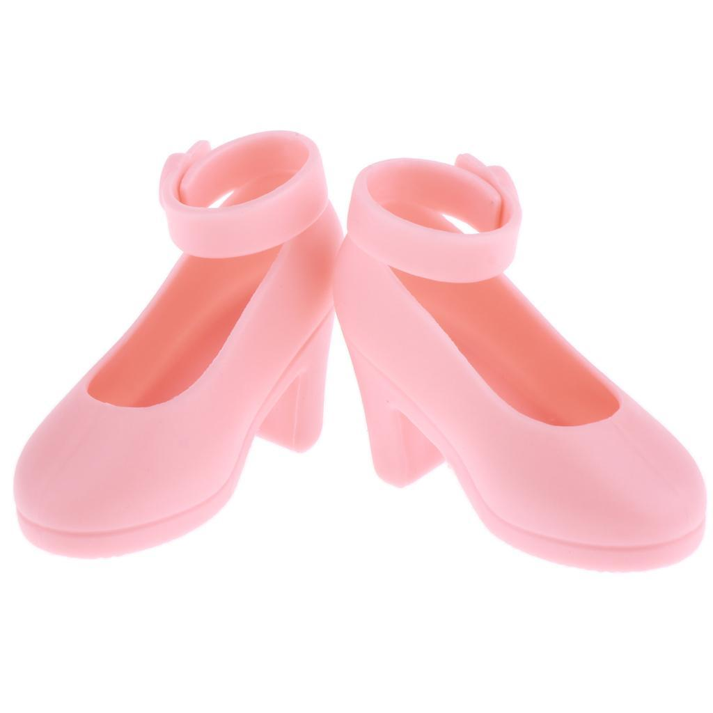 Handmade-Plastic-Doll-High-Heel-Jelly-Shoes-for-1-4-BJD-Dolls-DIY-Dress-up thumbnail 3