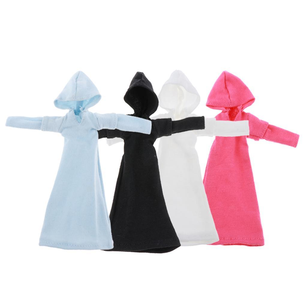 1-9-Action-Figure-Accessory-1-9Doll-Clothes-Action-Figure-Hooded-Dress-Decor thumbnail 3
