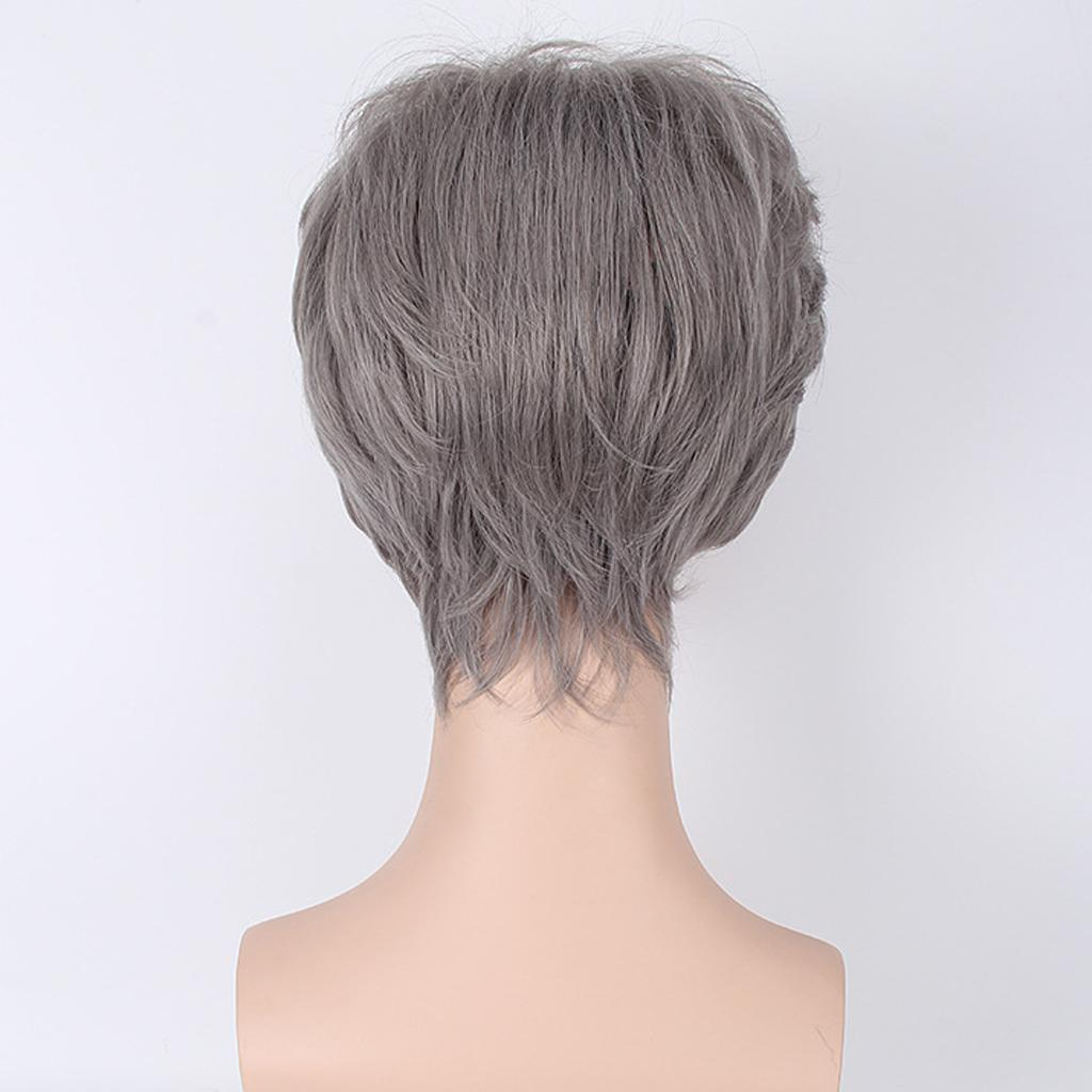 Fashion-Old-Women-Men-Short-Long-Curly-Wigs-Party-Costume-Cosplay-Fancy-Dress thumbnail 12