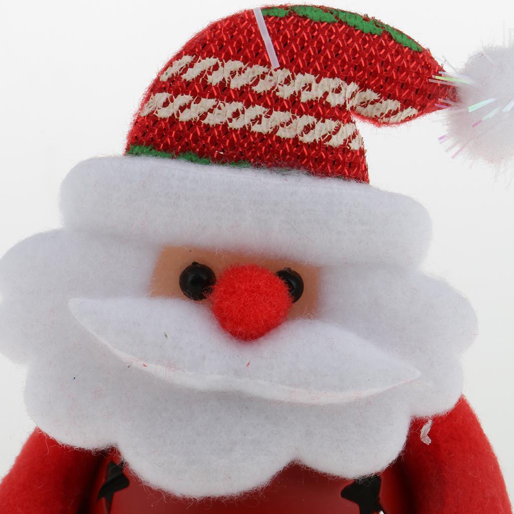 Peluche-Con-Campana-Pupazzo-Di-Neve-Babbo-Natale-Alce-Orso-Ornamenti-Per miniatura 10