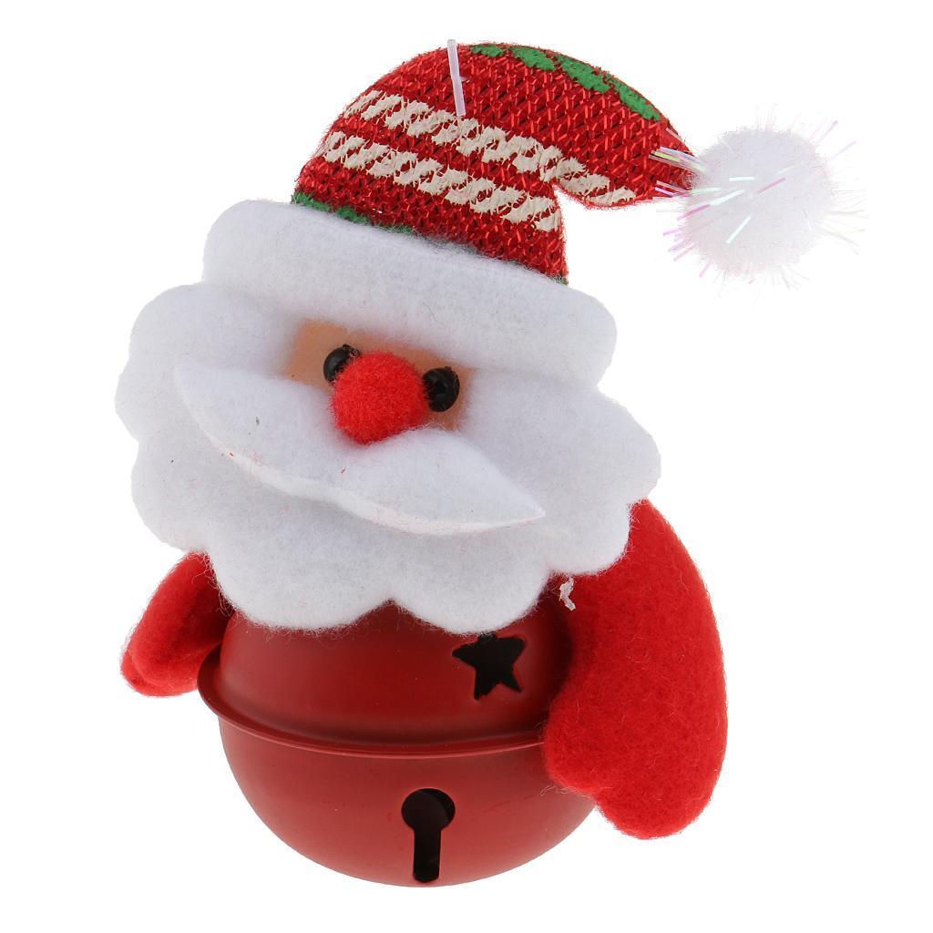 Peluche-Con-Campana-Pupazzo-Di-Neve-Babbo-Natale-Alce-Orso-Ornamenti-Per miniatura 8