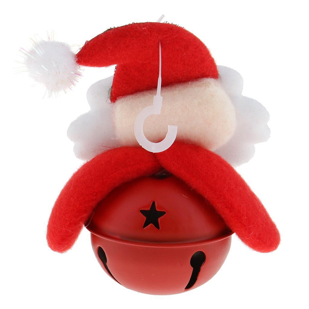 Peluche-Con-Campana-Pupazzo-Di-Neve-Babbo-Natale-Alce-Orso-Ornamenti-Per miniatura 9