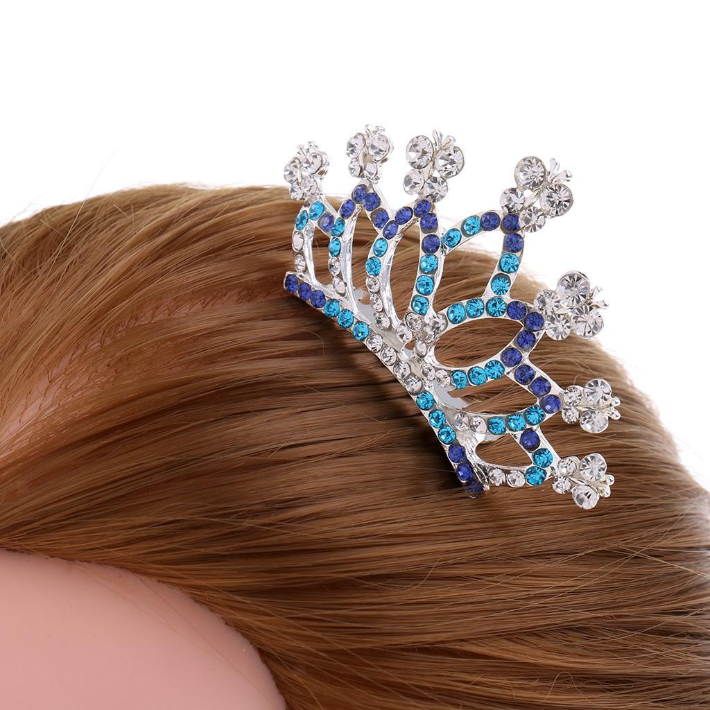 Princess-Crystal-Mini-Hair-Crown-Tiara-Hair-Comb-Girls-Woman-Wedding-Party-Gift thumbnail 51