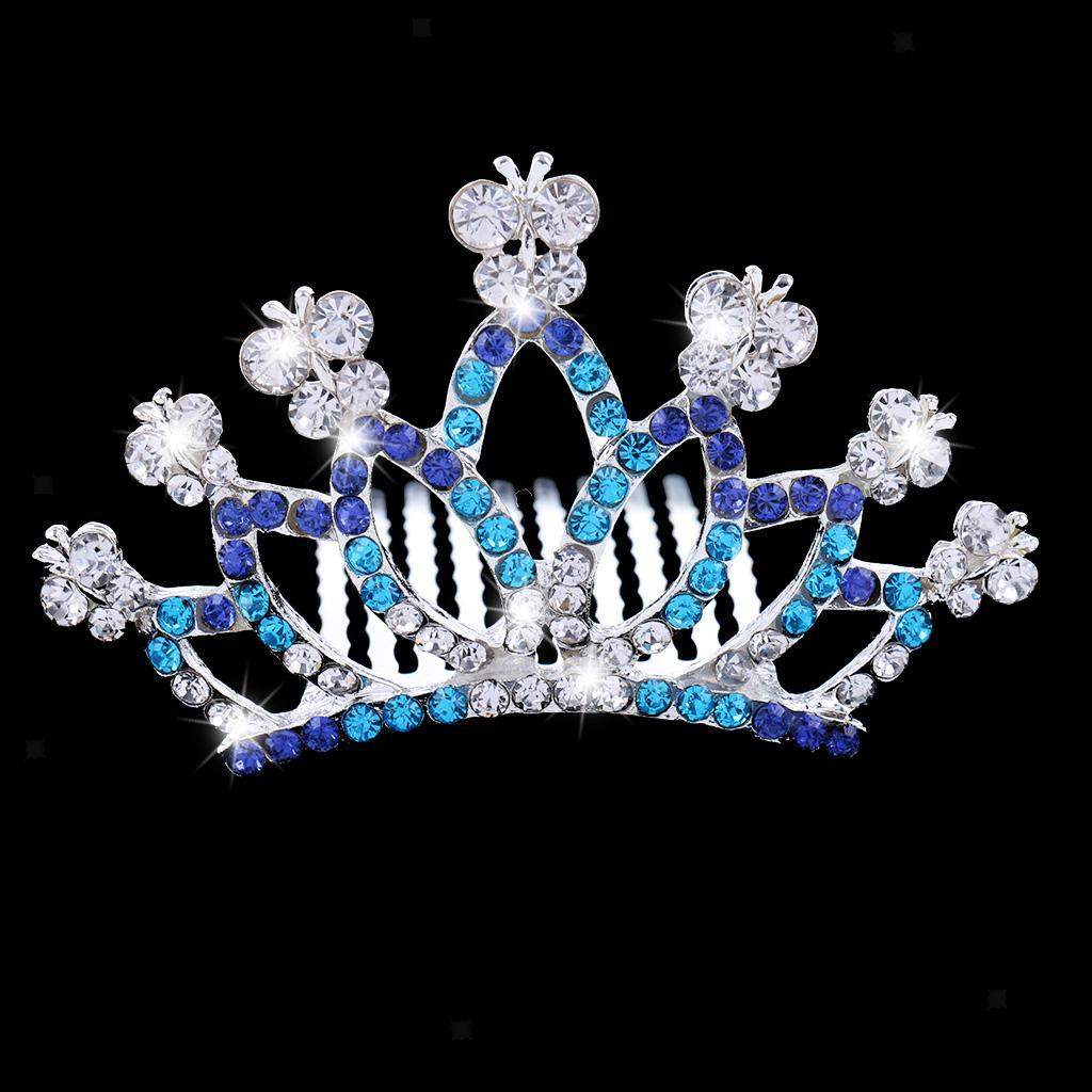 Princess-Crystal-Mini-Hair-Crown-Tiara-Hair-Comb-Girls-Woman-Wedding-Party-Gift thumbnail 49