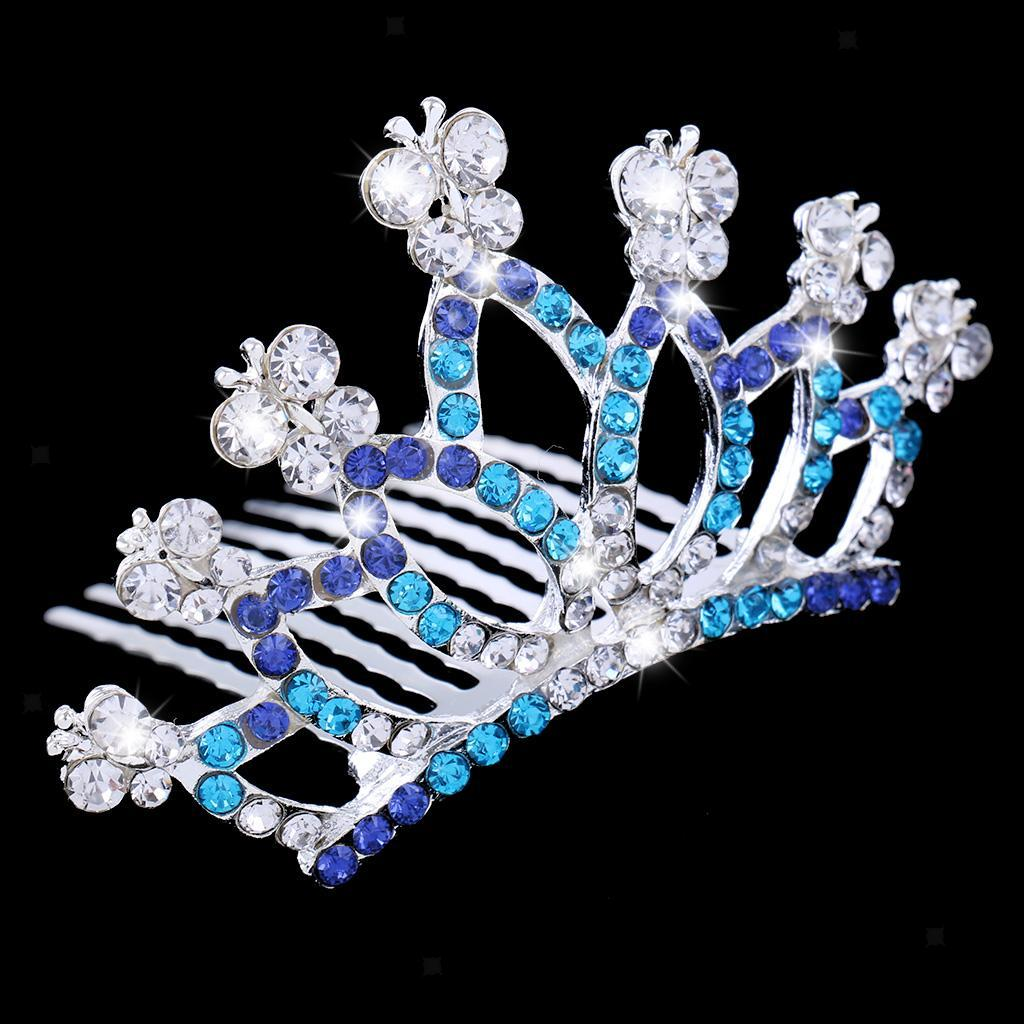 Princess-Crystal-Mini-Hair-Crown-Tiara-Hair-Comb-Girls-Woman-Wedding-Party-Gift thumbnail 50