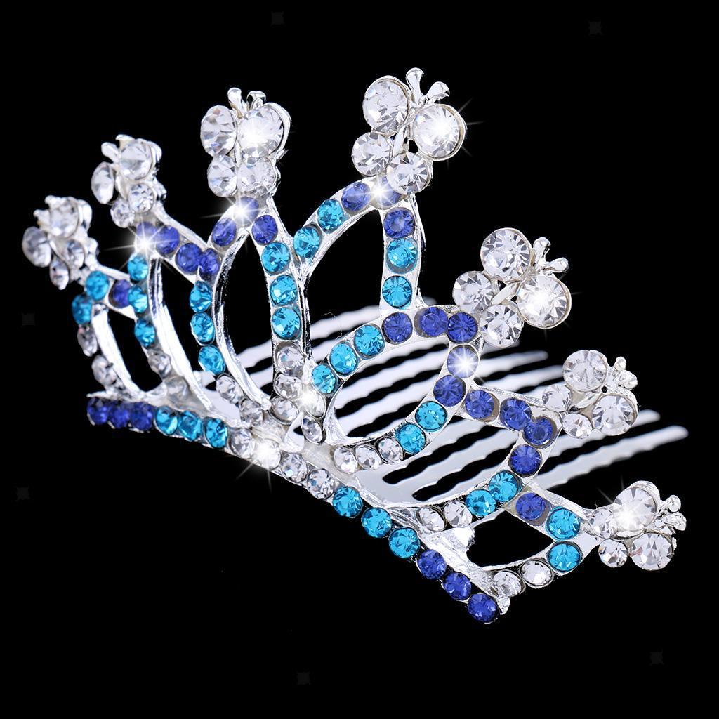 Princess-Crystal-Mini-Hair-Crown-Tiara-Hair-Comb-Girls-Woman-Wedding-Party-Gift thumbnail 45