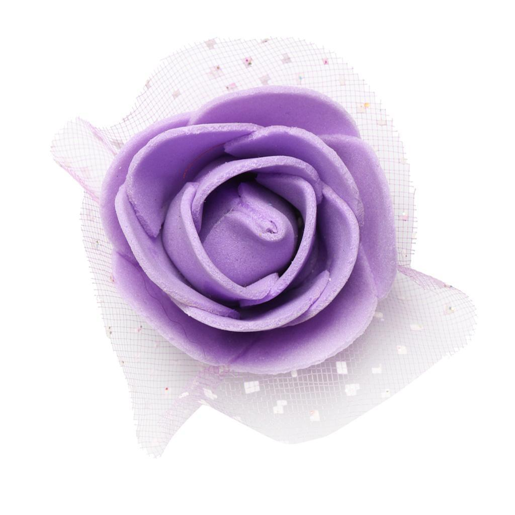 100-Pieces-Romantique-Mousse-Artificielle-Rose-Tete-Fleurs-De-Mariage miniature 14