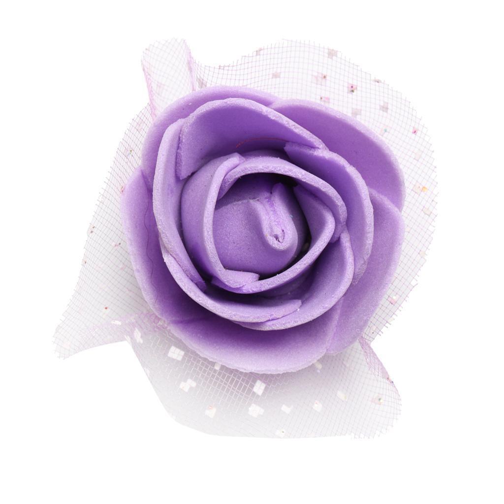 100-Pieces-Romantique-Mousse-Artificielle-Rose-Tete-Fleurs-De-Mariage miniature 15