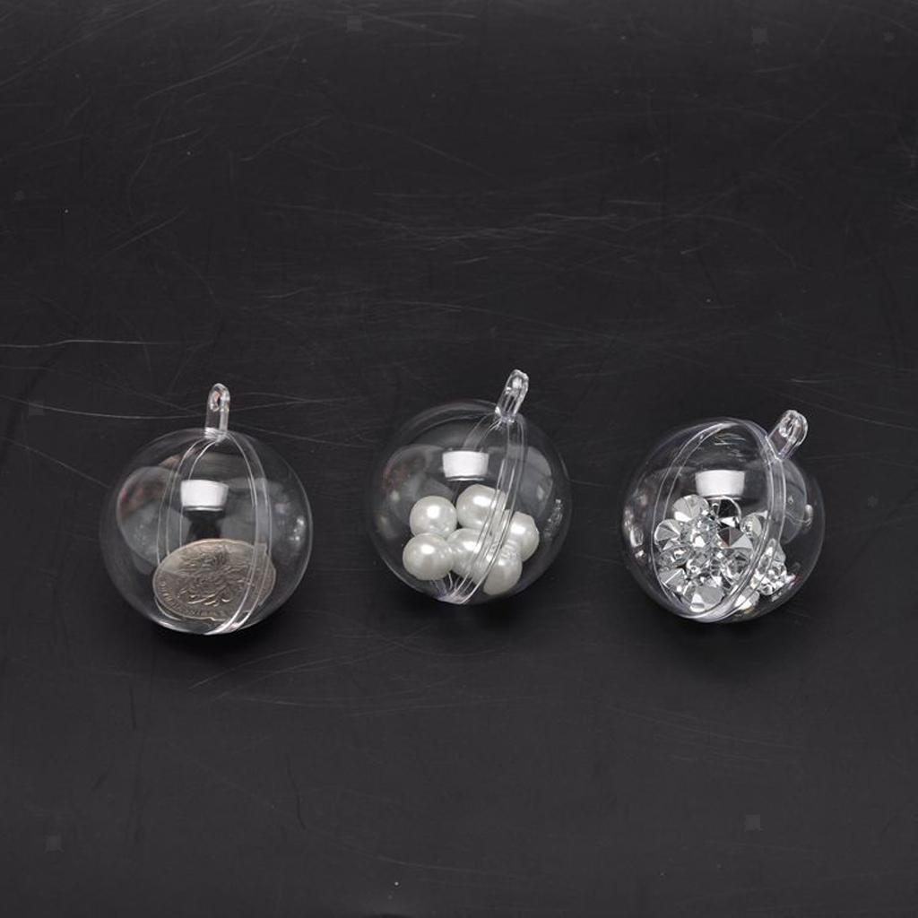 10x-Clear-Plastic-Ball-Baubles-Sphere-Fillable-Christmas-Tree-Ornament-Gift-Box miniatura 6