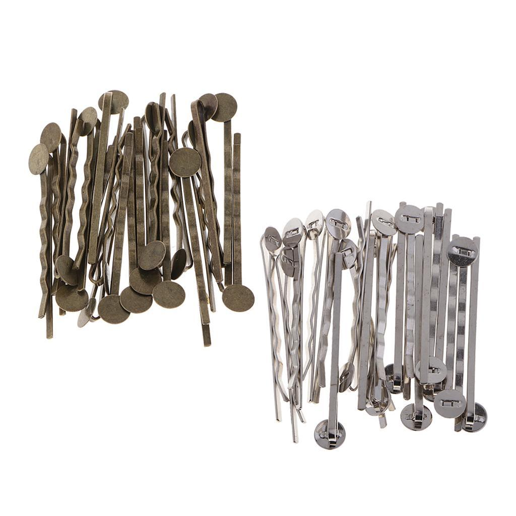 20pcs-Metal-Hair-Pin-Clip-Blanks-Glue-Pad-Findings-Craft-Choice-of-Colors thumbnail 4
