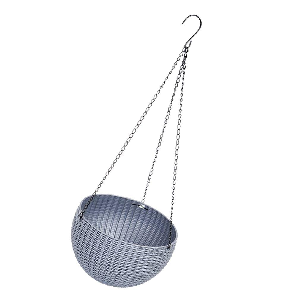 Hanging Basket On Fence: Wall Fence Plastic Hanging Basket Garden Plant Flower Pot