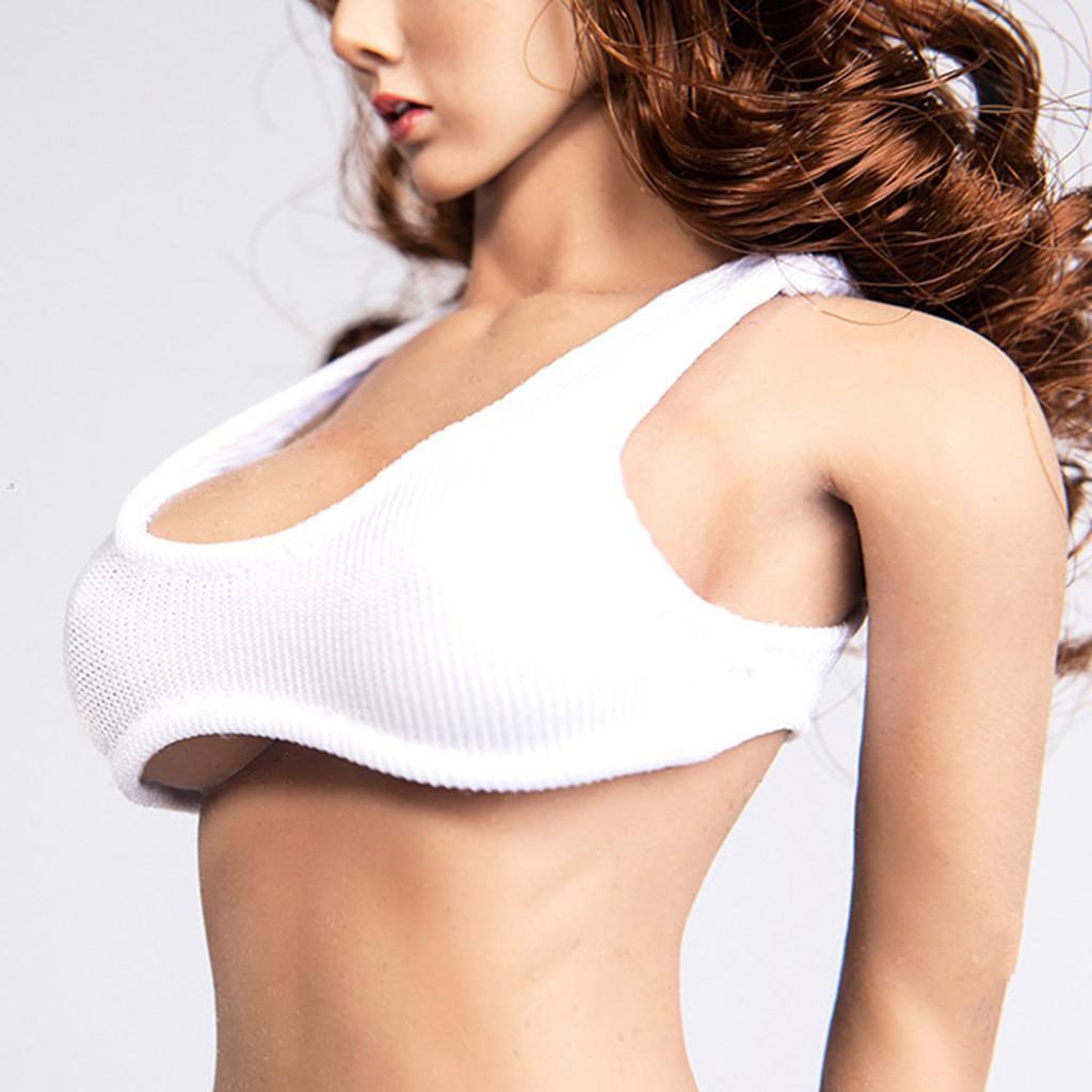 1-6-Scale-Model-Hot-Vest-12inch-Female-Action-Figure-White-Black-Dark-Green thumbnail 17