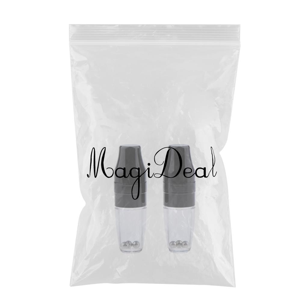 Plastic 5ml Empty Lip Gloss Balm Shaking Bottles Tube Container with Brush Cosmetic Makeup Container Pack of 2