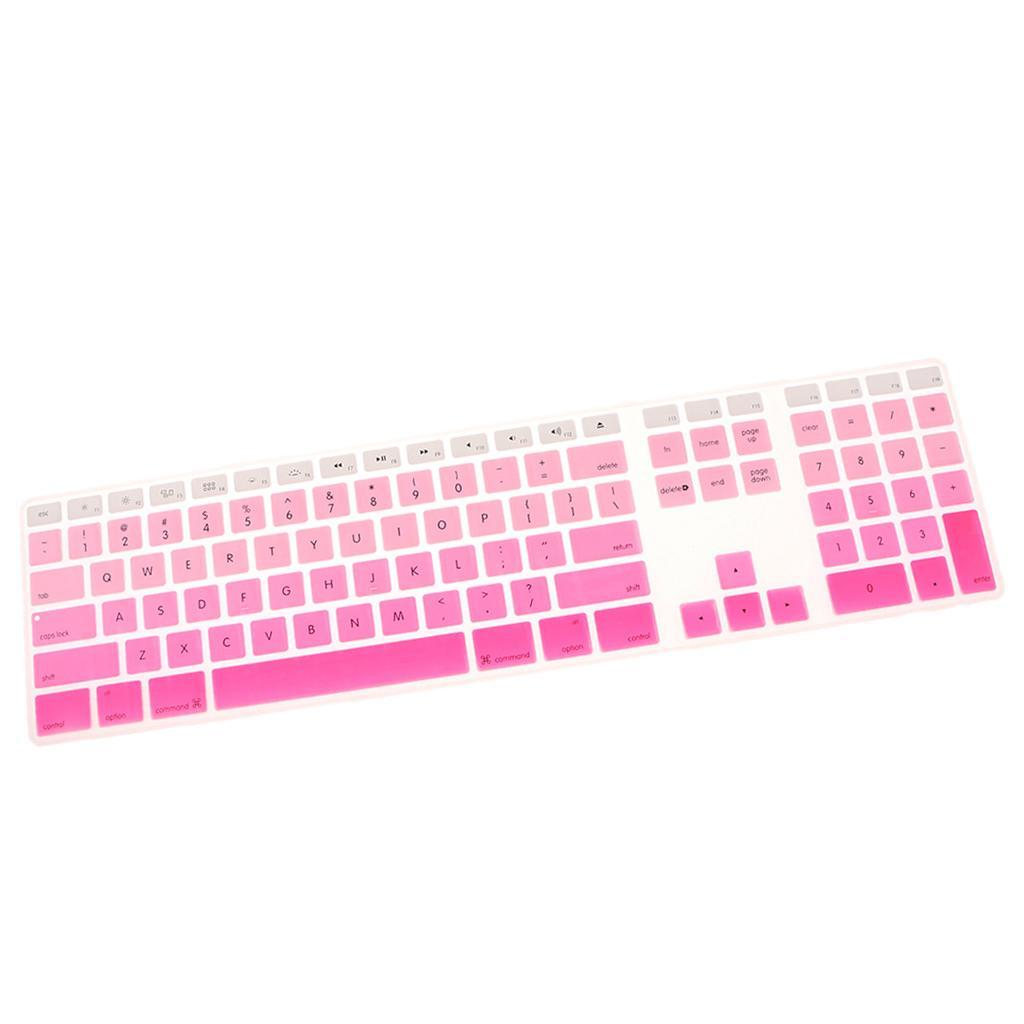 Soft-Silicone-Keyboard-Cover-Skin-for-iMac-G6-A1243-with-Numeric-Keypad thumbnail 12