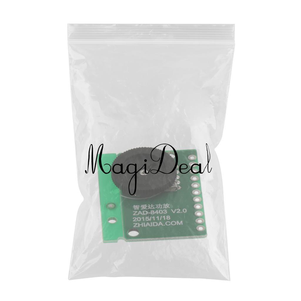 Premium 2x 3W Mini Dual Channel Audio Receiver Digital Amplifier Board Module PAM8403