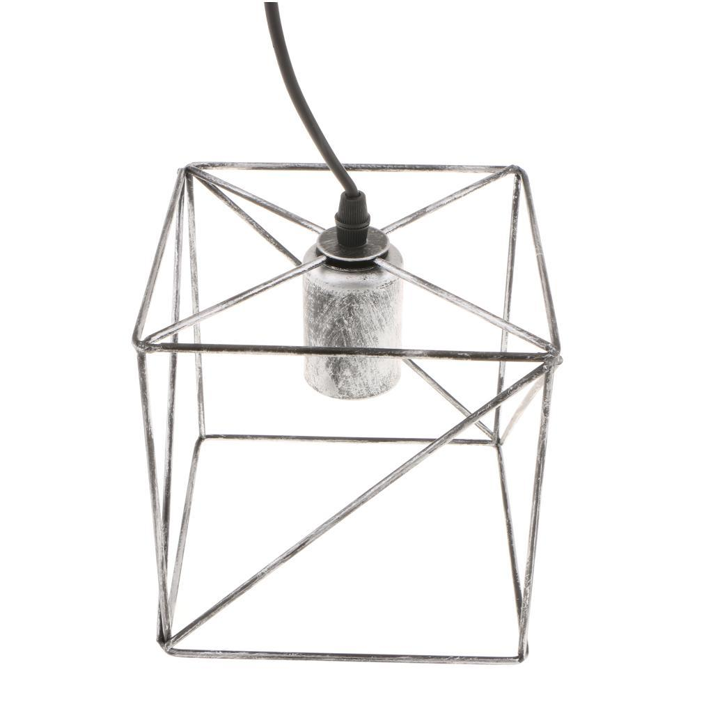 Cube-Lamp-Cage-Ceiling-Light-Shade-Lampshade-Pendant-Lights-Fixture-Home-Decor thumbnail 4
