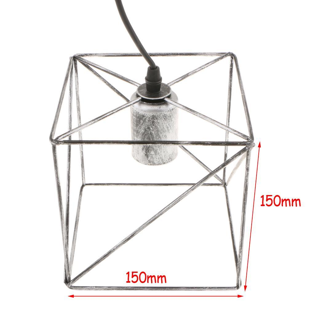 Cube-Lamp-Cage-Ceiling-Light-Shade-Lampshade-Pendant-Lights-Fixture-Home-Decor thumbnail 9