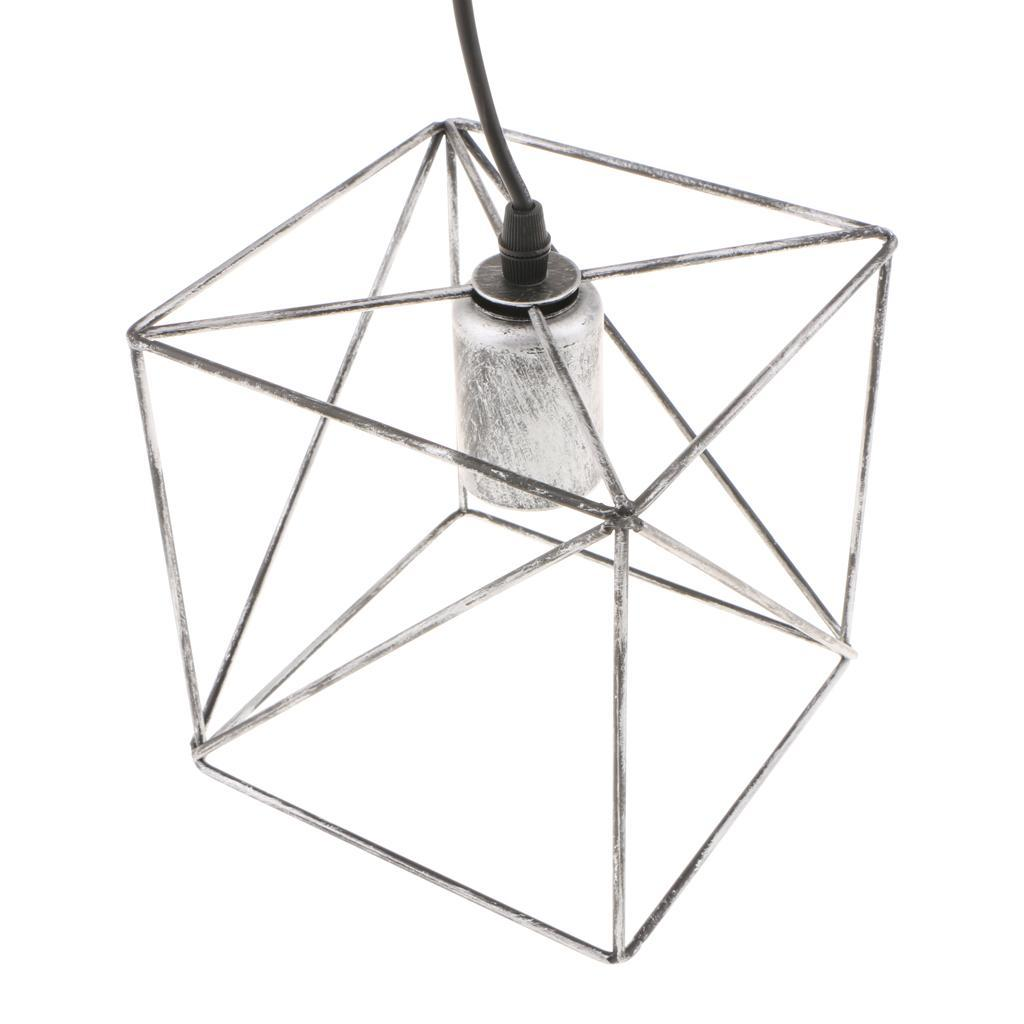 Cube-Lamp-Cage-Ceiling-Light-Shade-Lampshade-Pendant-Lights-Fixture-Home-Decor thumbnail 3