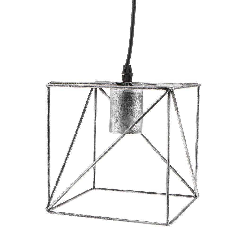 Cube-Lamp-Cage-Ceiling-Light-Shade-Lampshade-Pendant-Lights-Fixture-Home-Decor thumbnail 5