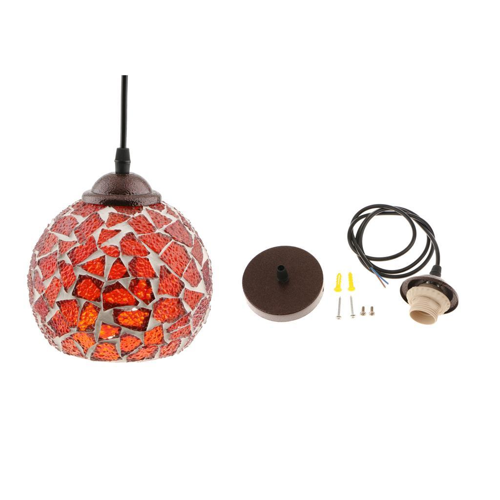 Mosaic-Style-Hanging-Light-Ceiling-Pendant-Lamp-Retro-Lampshade-Cafe-Restaurant thumbnail 87