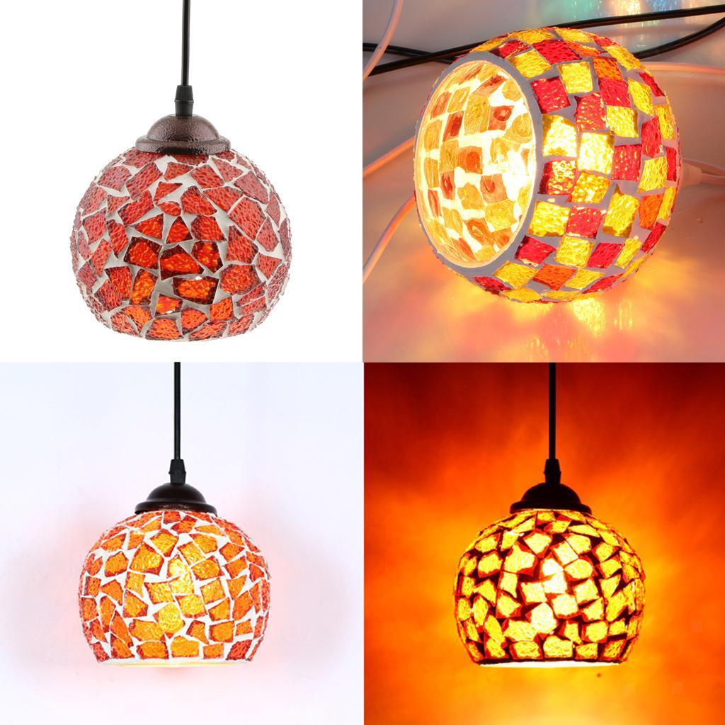 Mosaic-Style-Hanging-Light-Ceiling-Pendant-Lamp-Retro-Lampshade-Cafe-Restaurant thumbnail 88