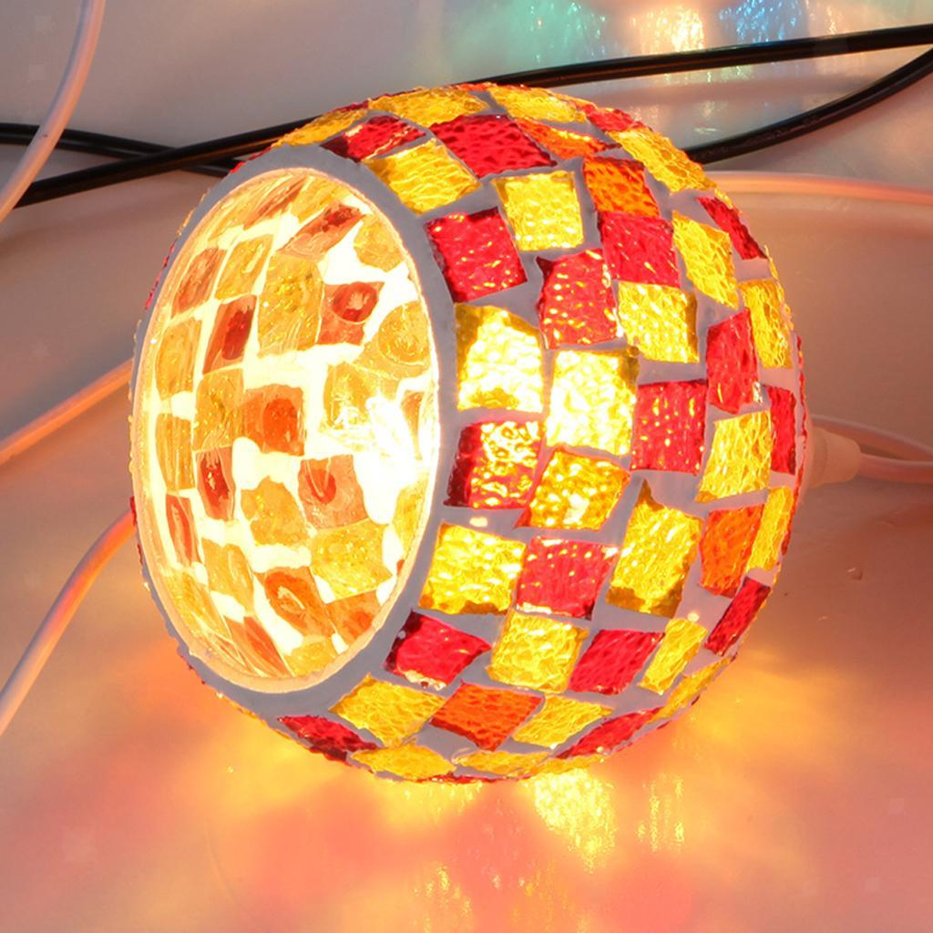 Mosaic-Style-Hanging-Light-Ceiling-Pendant-Lamp-Retro-Lampshade-Cafe-Restaurant thumbnail 89